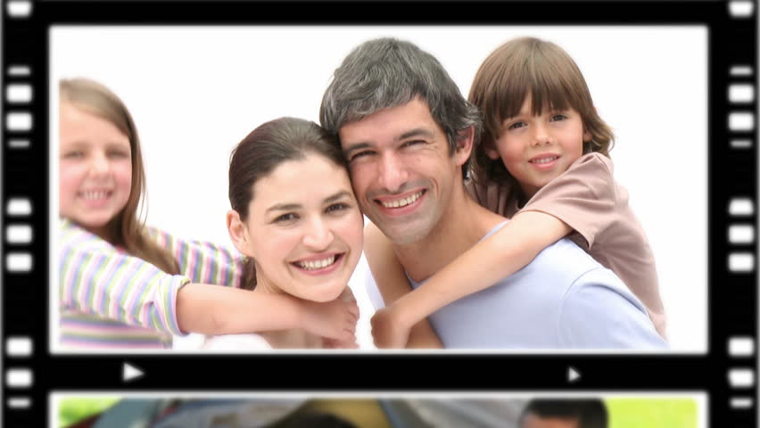 Montage of people spending time with their children at home amd outdoors - HD stock video clip