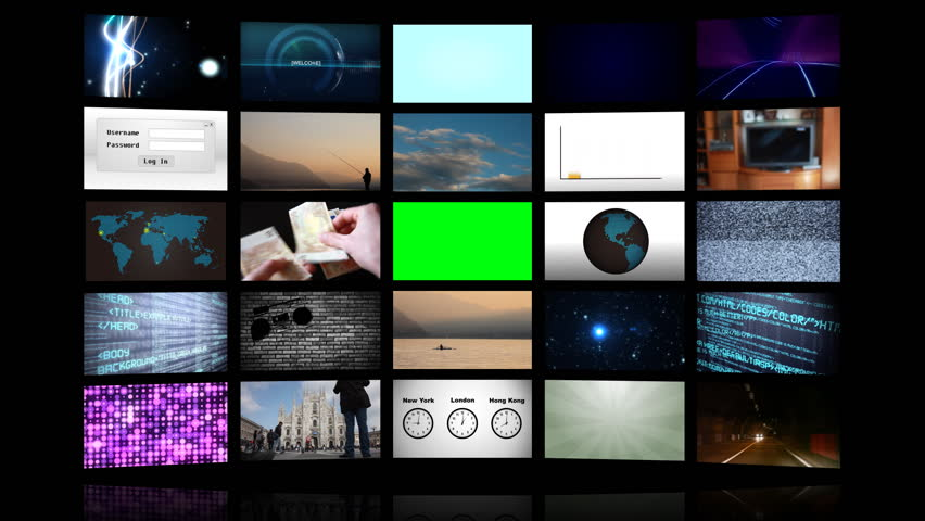 Green screen led wall - HD stock footage clip