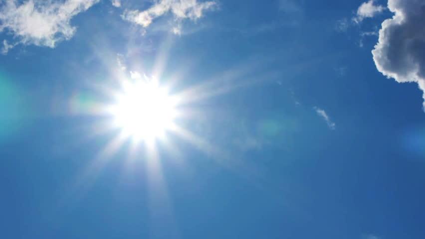 HD - Beautiful summer sun. time lapse