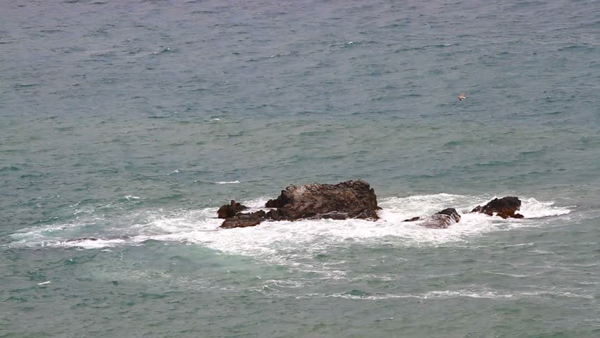 Sea waves on the rocks - HD stock footage clip