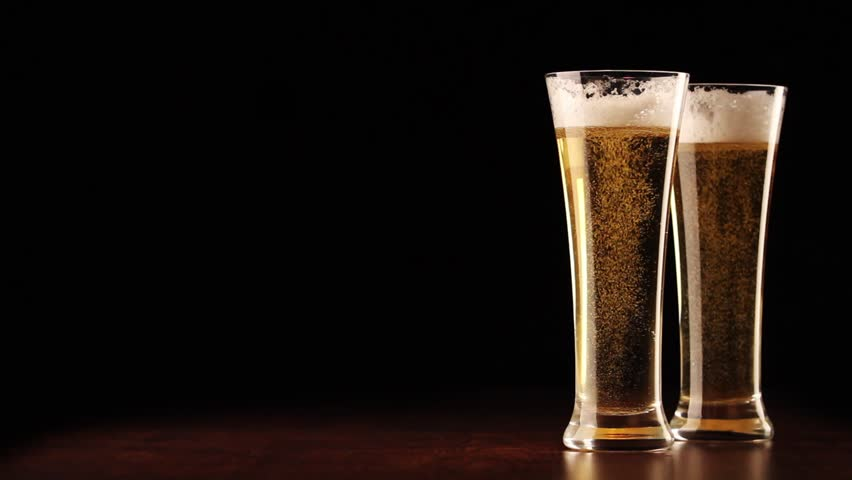 beer pouring into the glass stock footage video 3088210