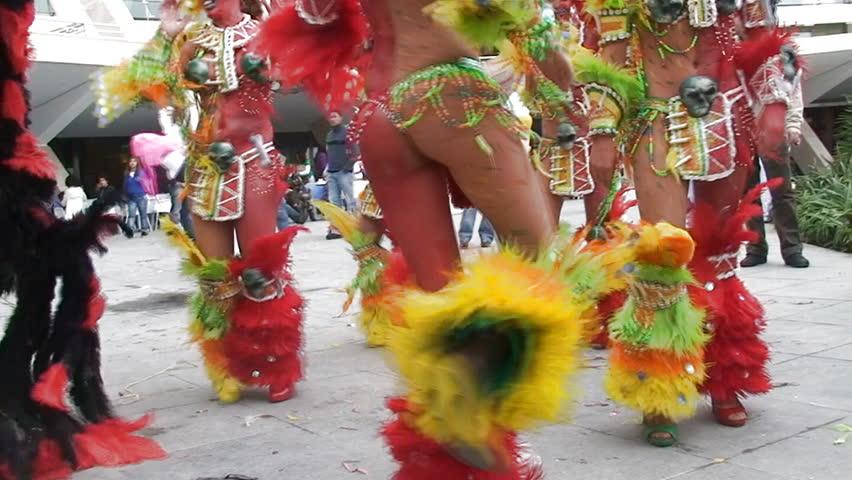 Colorful Brazilian Carnival  - HD stock footage clip