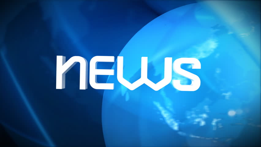 World News title sequence, HD - HD stock video clip