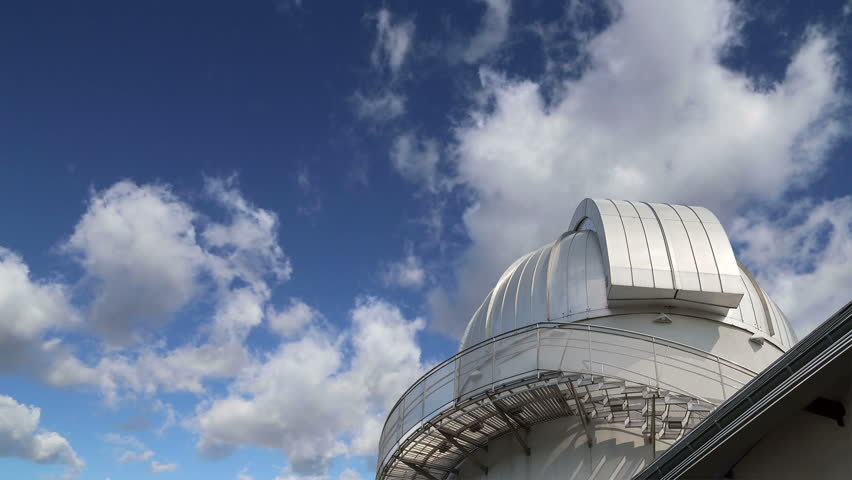 MOSCOW, RUSSIA- AUGUST 09, 2013:Moscow Planetarium on the background of sky,  Russia