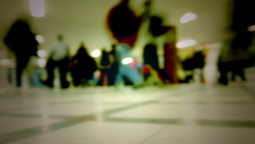 People in motion, Blur - HD stock video clip