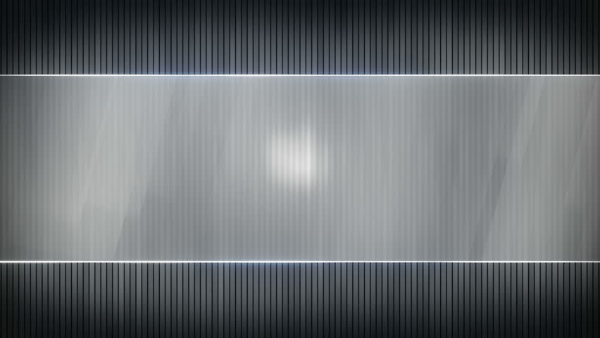 grey stripes and blank banner. Computer generated seamless loop ...