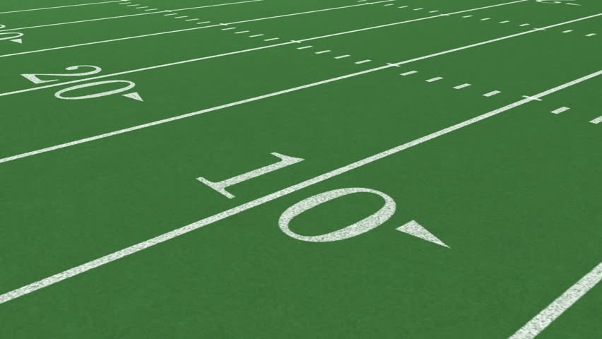American Football Field Fly Through Stock Footage Video ...
