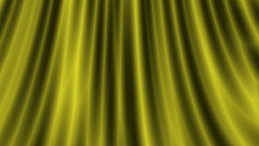 Opening gold silk curtain - HD stock footage clip