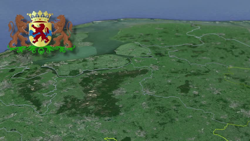 Overijssel whit Coat of arms animation map Provinces of the Netherlands