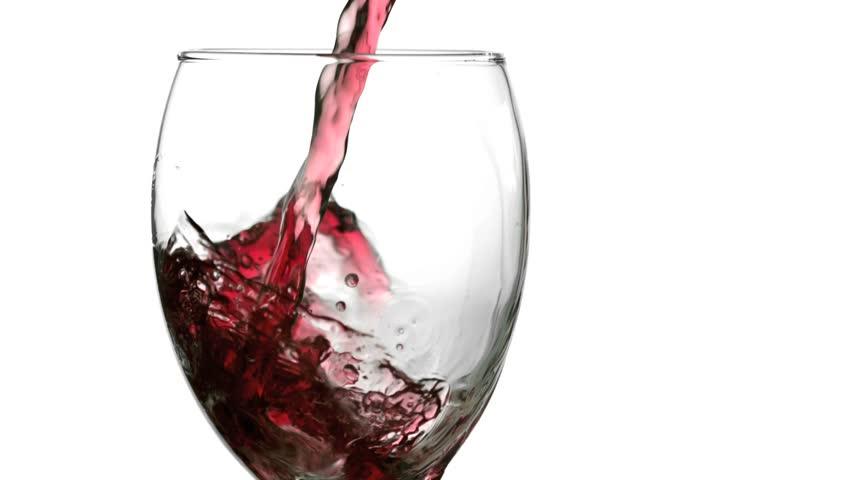Still wine splash filmed at 1,000 frame per second