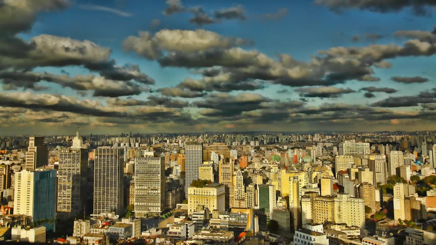 Sao Paulo Brazil skyline sunset time lapse | Shutterstock HD Video #1295953