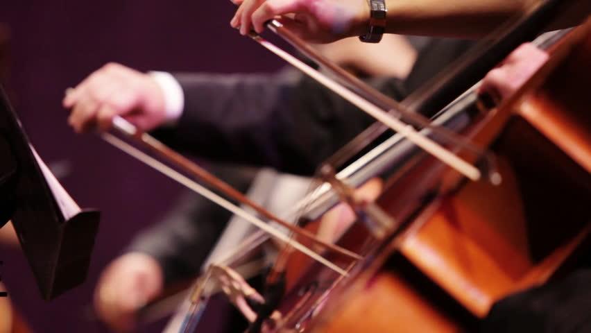 Violin at a concert - HD stock video clip