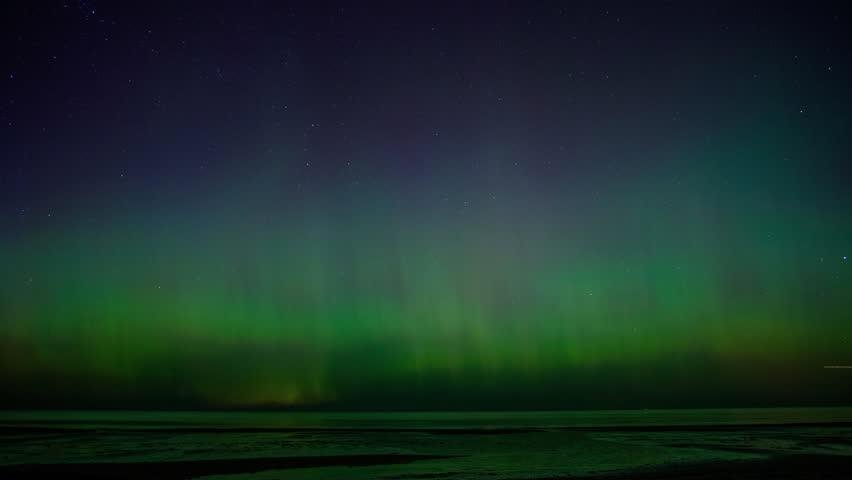 4k UHD time-lapse of beautiful Aurora Borealis