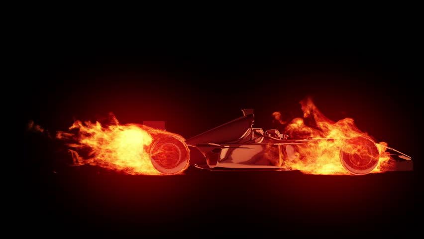 Fire race car cycle | Shutterstock HD Video #1323790