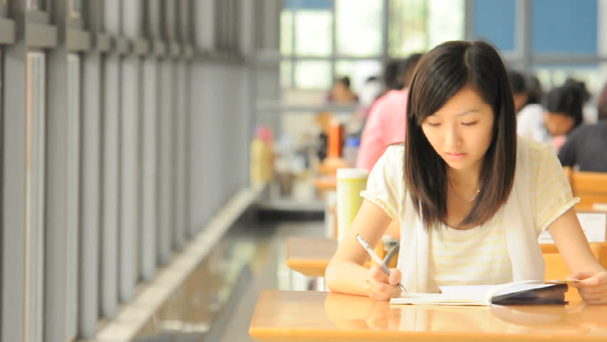 studying girl. - HD stock video clip