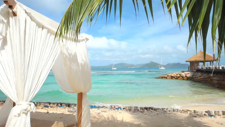 sandy beach  - HD stock video clip