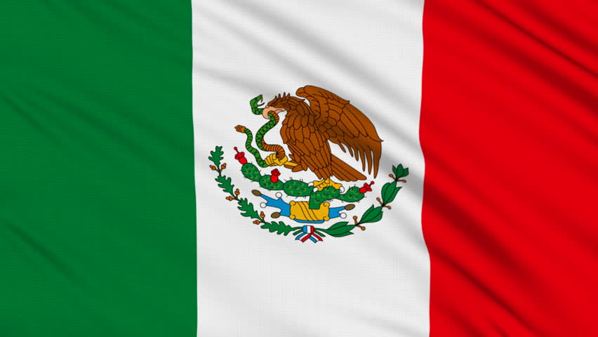 Mexican flag, with real structure of a fabric | Shutterstock HD Video #134404
