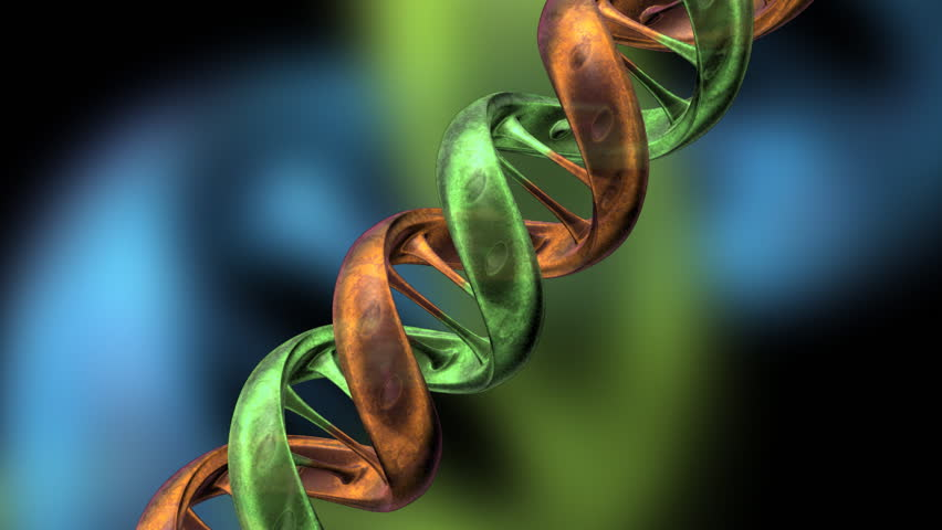 Animated DNA strand. - HD stock video clip