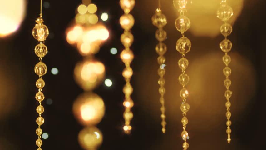 Christmas crystal decoration.