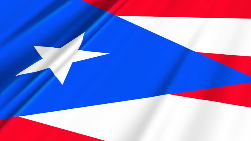 Puerto Rico Flag Loop 2 - HD stock video clip