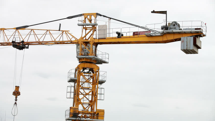 Tower Crane School : Tower crane does not work stock footage