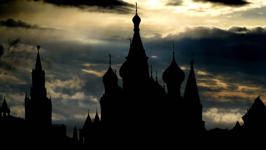 The Saint Basil`s Cathedral, known as the Temple of Basil the Blessed, in Moscow, is a Russian Orthodox church erected on the Red Square, built in 16th century, part  UNESCO World Heritage Site.  - HD stock footage clip