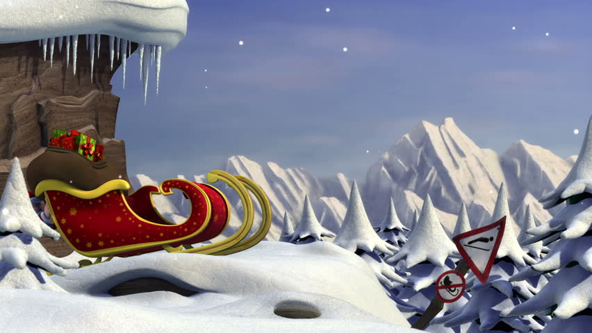 3D Animation : Santa Claus Trying To Take Off | Shutterstock HD Video #1403746