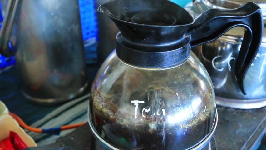 coffee percolator  - 4K stock video clip