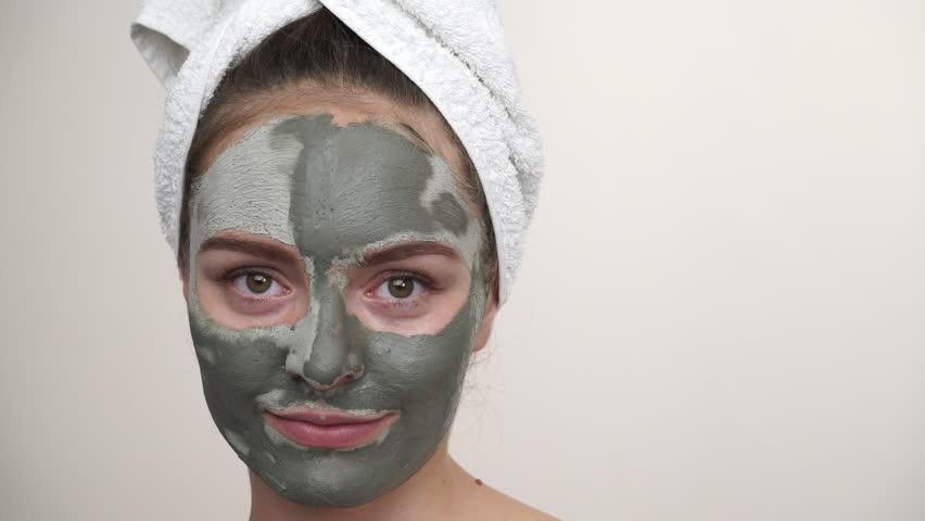 green facial skin care