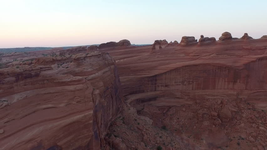 Aerial view of Delicate Arch at Arches National Park, Utah