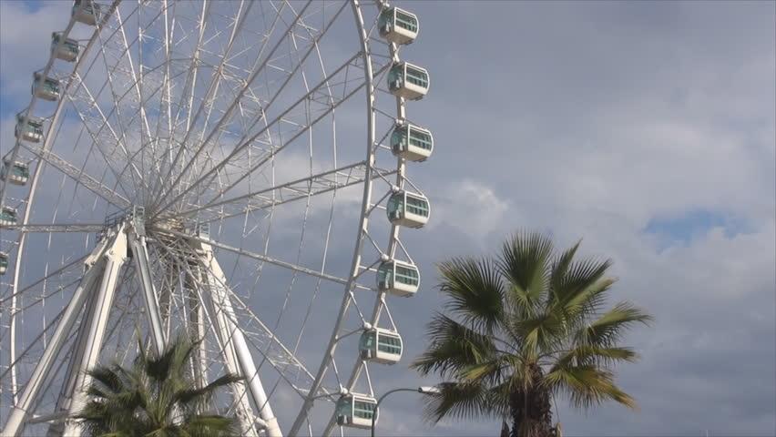 Malaga Ferris Wheel - HD stock footage clip