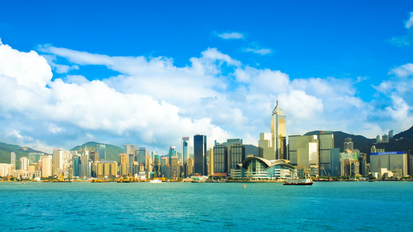 Skyscrapers in Hong Kong. Timelapse | Shutterstock HD Video #1452589