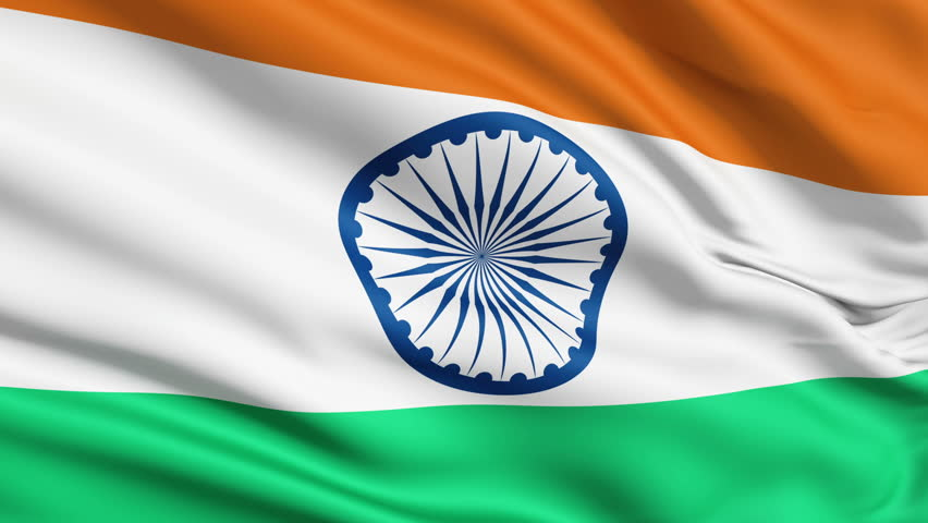 For Indian Flag Hd Animation: Detail Of Waving Flag Stock Footage Video 778300