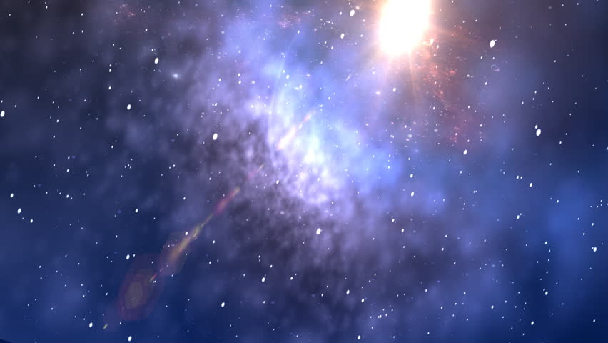 space background - HD stock video clip