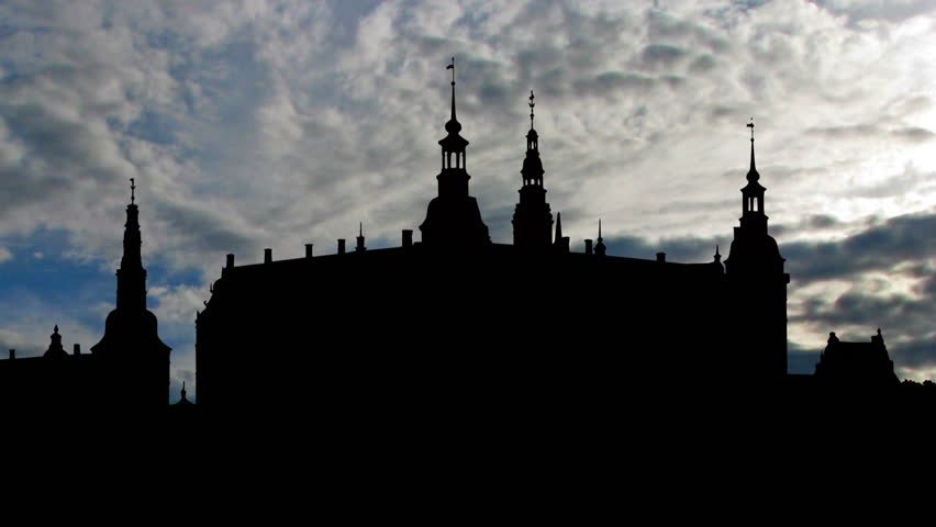Frederiksborg castle is a castle in Hilled, Denmark. It was built as a royal residence for King Christian IV, and is now known as The Museum of National History - HD stock footage clip