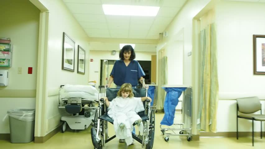 Nurse with little boy in hospital | Shutterstock HD Video #14601166