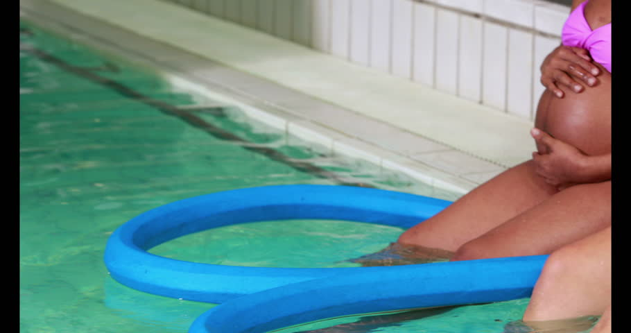 Pregnant Women At The Swimming Pool In 4k Format Stock Footage Video 14605735 Shutterstock