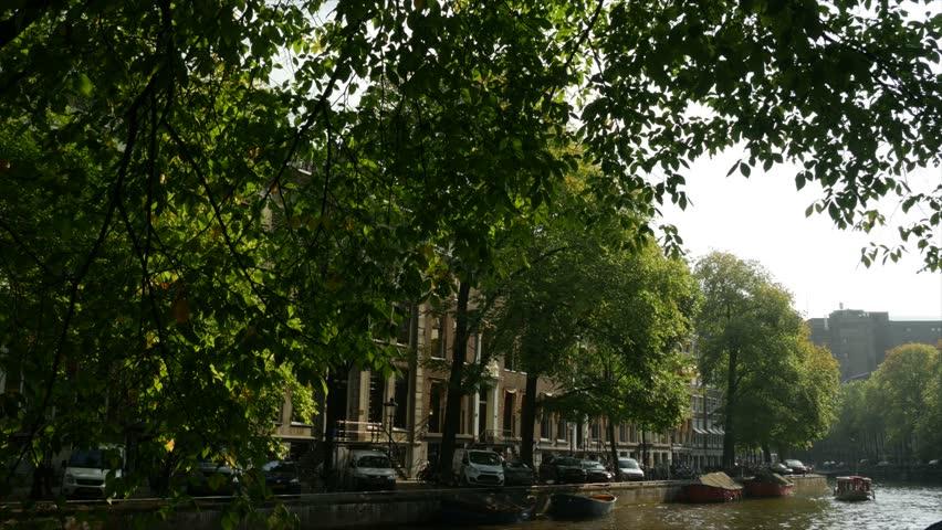 Amsterdam Netherlands - Grachten/Canals - 4K stock footage clip