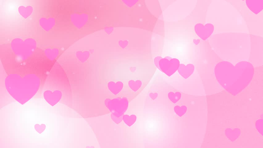 Valentine Love Hearts On A Hot Pink Background Of Animated ...