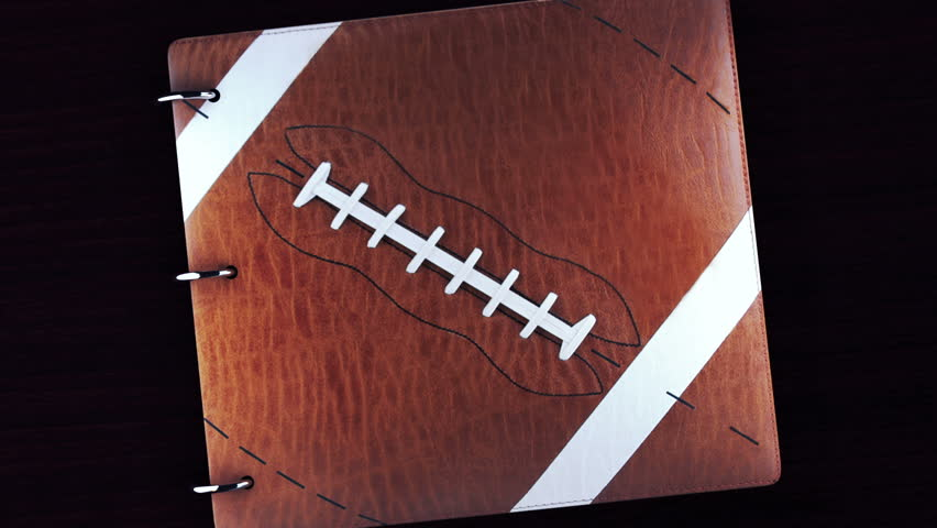 Tell your story with this Football album with green key to add your video or pictures,album opens and closes - HD stock footage clip
