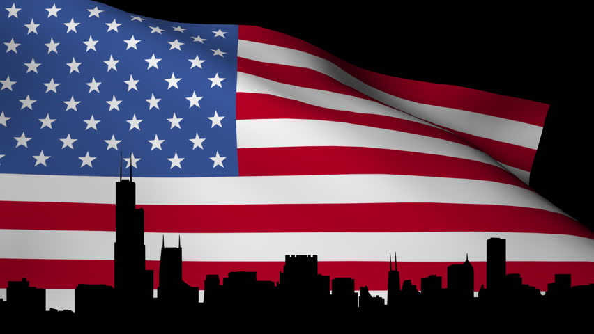 US Election Background Loop Stock Footage Video - Hd us election map