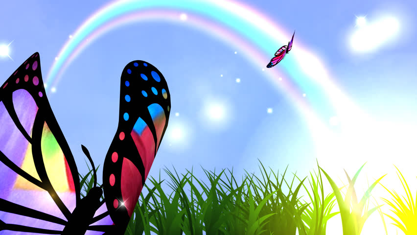 Spring Is Coming. Animation. Spring Fantasy: Butterfly ...