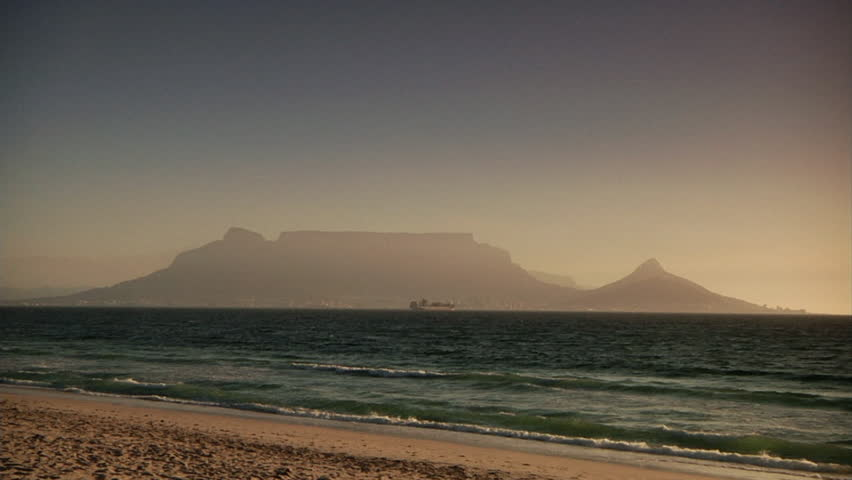 WS Tourist walking along beach / South Africa - HD stock footage clip