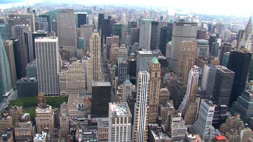 New York - Circa October 2010: Aerial view of a New York City street. | Shutterstock HD Video #1487662