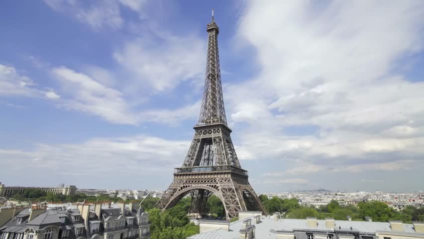 """Eiffel Tower - an Architectural Monument of Paris, Located on the Champ de Mars , the Symbol of Modern France. Popular Name - """" Iron Lady """" 