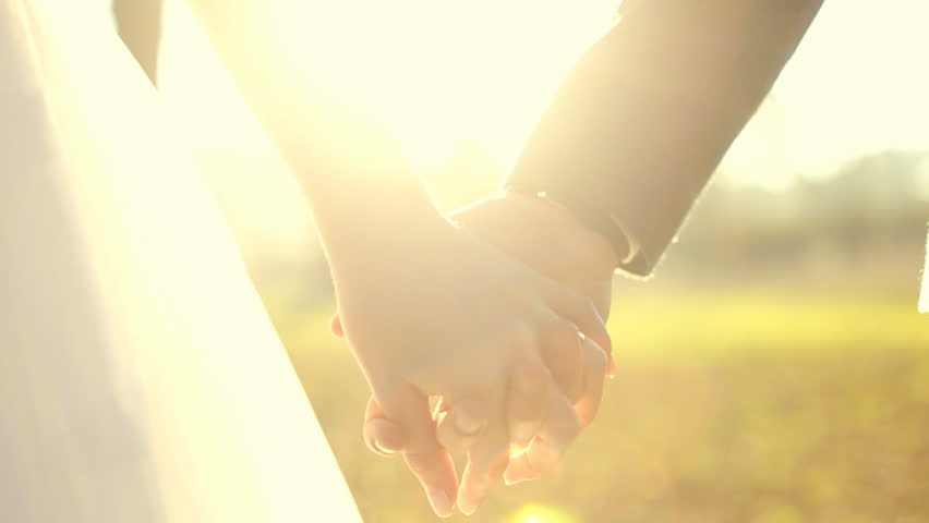 Marry Me Today And Everyday. Newlywed Couple Holding Hands, Shot In Slow Motion | Shutterstock HD Video #15004240