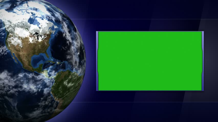Monitor and Earth and Business Technology Bars Background, Loop, 4k