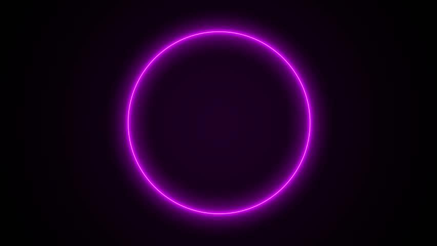 beautiful neon circles 4k - photo #4