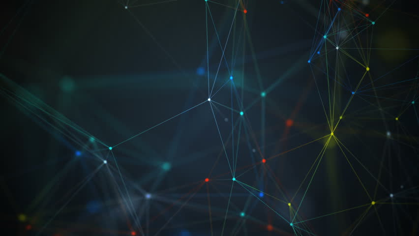 Abstract network connection background. Technology and Connectivity Concept. Molecule And Communication Background. Truck/Dolly Camera Motion Left Right. | Shutterstock HD Video #15043552