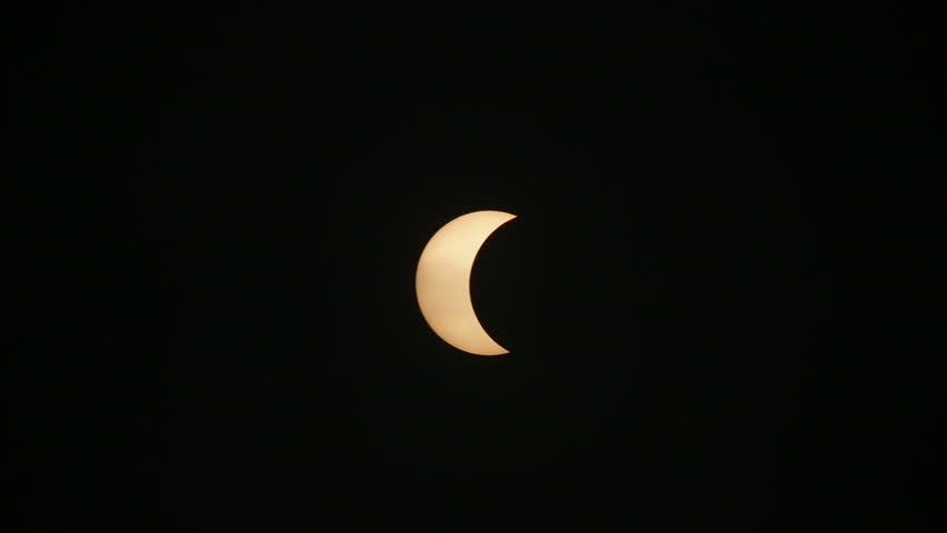 solar eclipse visible in thailand on 9 March 2016 - HD stock video clip
